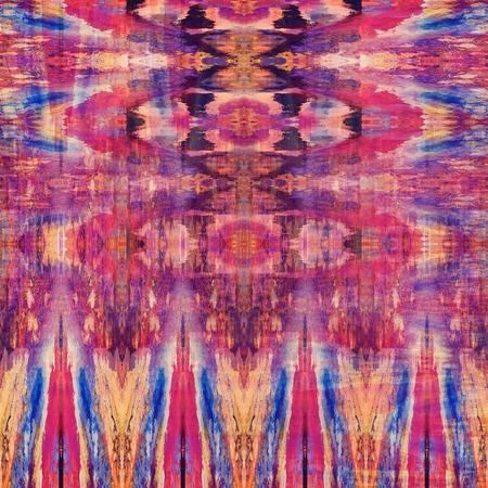 textile design: art colorful ornamental vintage seamless pattern in blue, orange, pink and violet colors