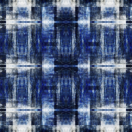 textile image: art colorful ornamental vintage seamless pattern in blue and white