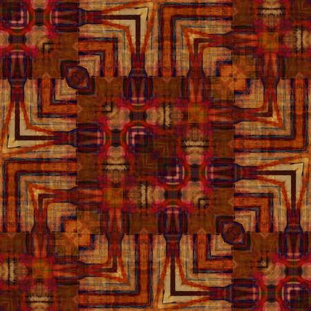 art eastern national traditional pattern in red and brown colors photo