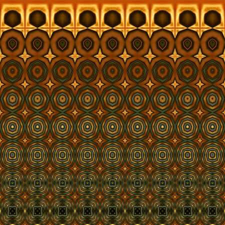 gree: art vintage geometric ornamental pattern, gree, yellow and brown border
