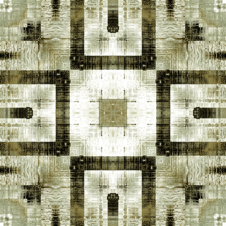 carpet texture: art vintage ornamental seamless pattern  in beige, light green, brown and black colors Stock Photo