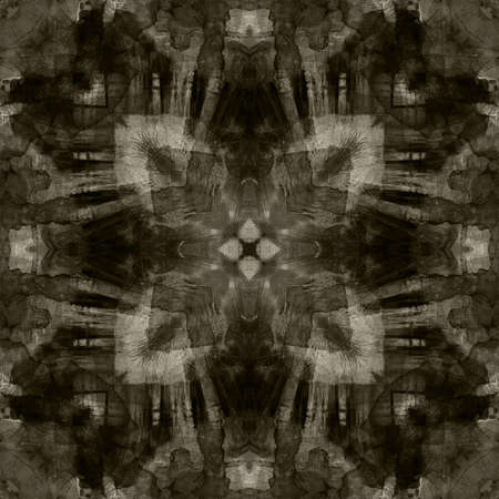 art geometric ornamental vintage pattern in black and white colors photo