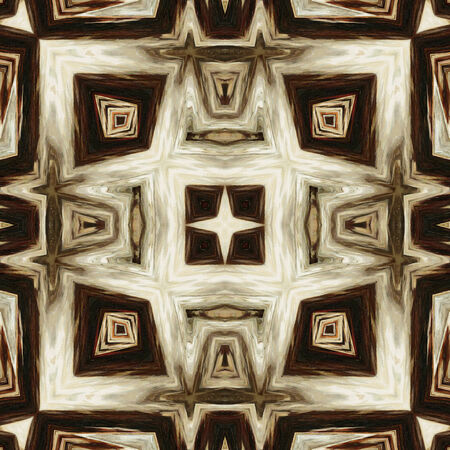 art geometric ornamental vintage pattern in beige, white and brown colors photo