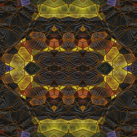 art nouveau ornamental vintage pattern in yellow, violet, black and brown colors photo