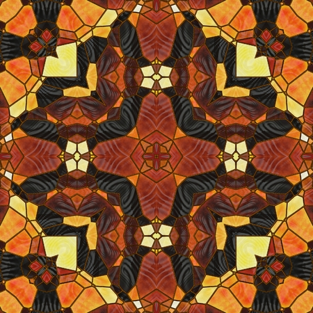 art nouveau ornamental vintage blurred pattern in brown color photo