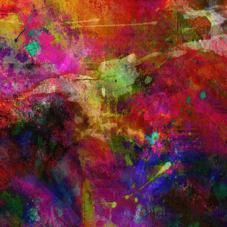 art abstract acrylic bright colorful background with pink, violet, blue, orange, red and green blots photo