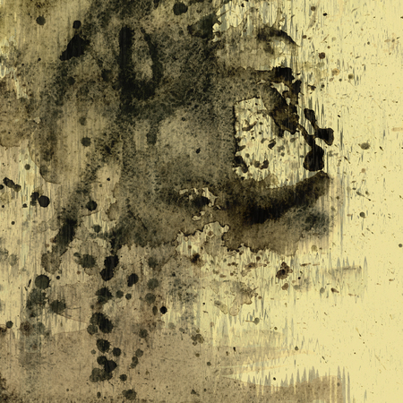 art abstract watercolor beige background with black blots  photo