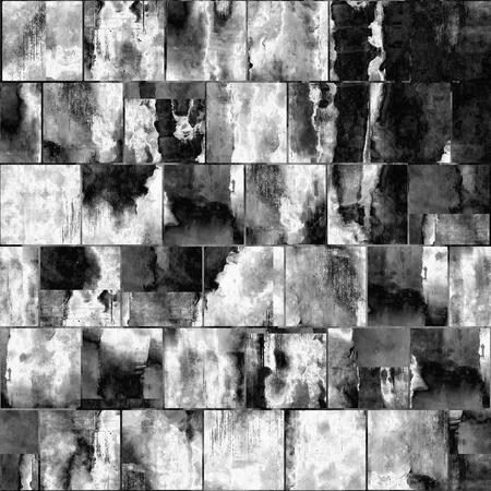 l'art abstrait géométrique texturé fond dans les couleurs noir et blanc, seamless Banque d'images
