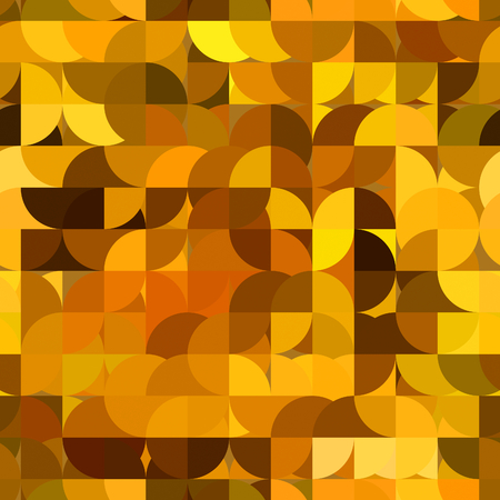 art abstract golden tiles background with circles, seamless pattern photo
