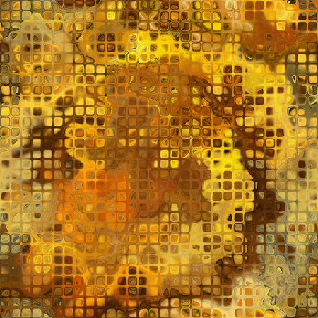 art abstract golden small tiles background, seamless pattern photo
