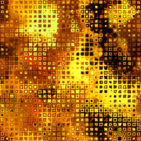 art abstract bright golden, orange and brown pixel background, seamless pattern photo