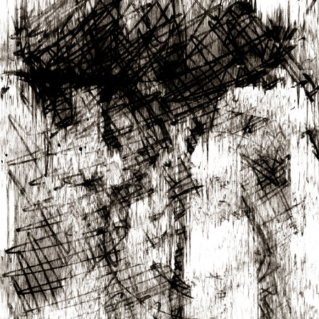 art abstract chaos graphic background in black and white photo