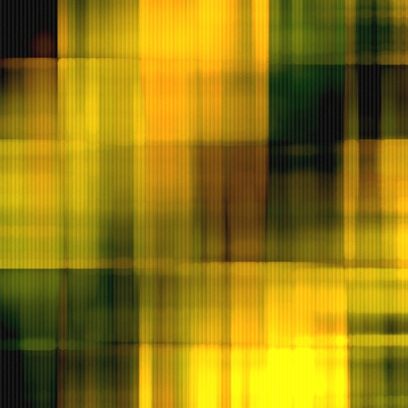 art fabric textured green, yellow and brown background with blurred blots photo