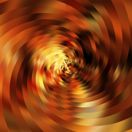 art abstract bright golden, orange and brown spiral background