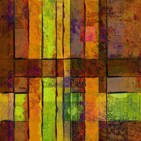 art abstract geometric textured colorful background with square in gold and brown colors photo