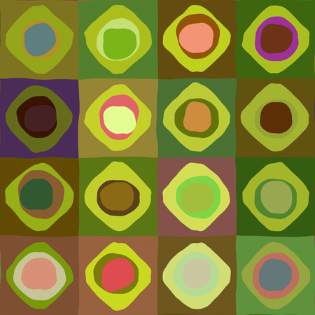 art abstract geometric textured colorful background with circles in green and rainbow colors  photo