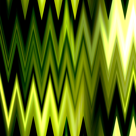 art abstract colorful zigzag geometric seamless pattern background in gold and green colors photo