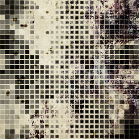 art abstract monochrome halftone pattern background in white, beige, grey and black colors photo