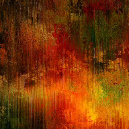art abstract pencil red, brown, orange, green and gold background photo