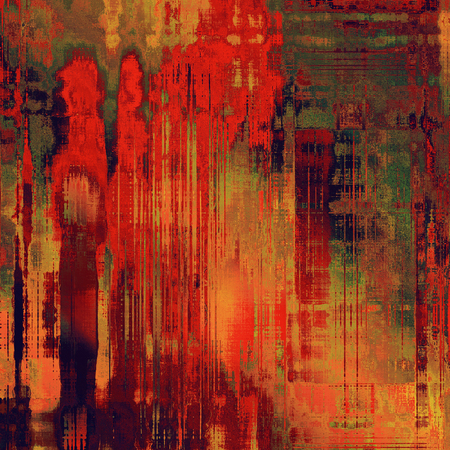 art abstract colorful acrylic background in red, orange and green colors photo