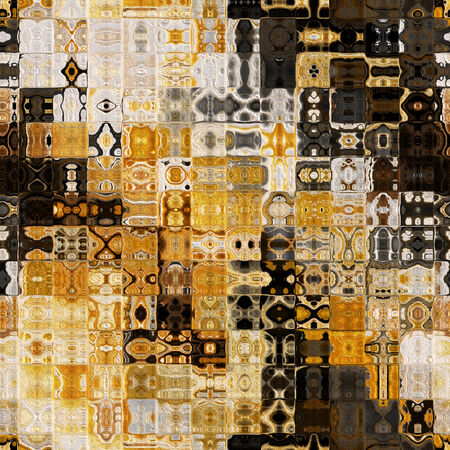 art abstract colorful geometric seamless pattern; tiled background in brown and white colors photo