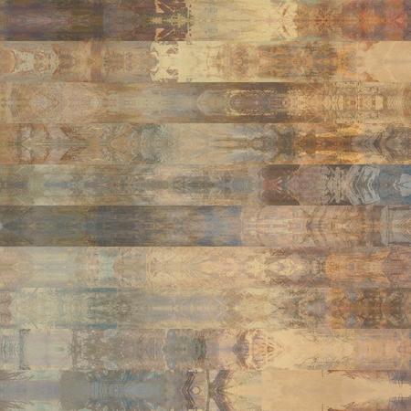 arte abstracto: abstracto arte gr�fico colorido; modelo geom�trico estilizado frontera en colores beige y gris Foto de archivo