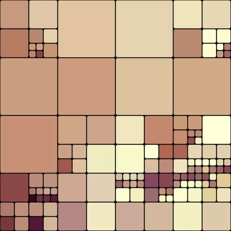 art abstract colorful geometric pattern; tiled background in brown and white colors photo