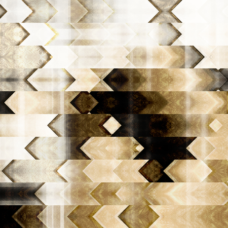 abstract art: art abstract colorful geometric pattern; tiled background in black and white colors Stock Photo