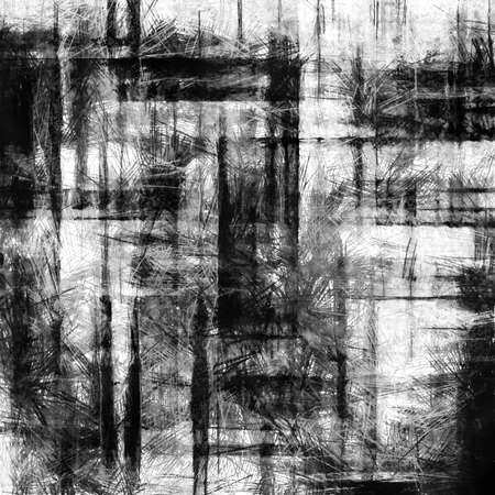 dislocation: art abstract grunge dust textured monochrome background in black, grey, sepia and white colors