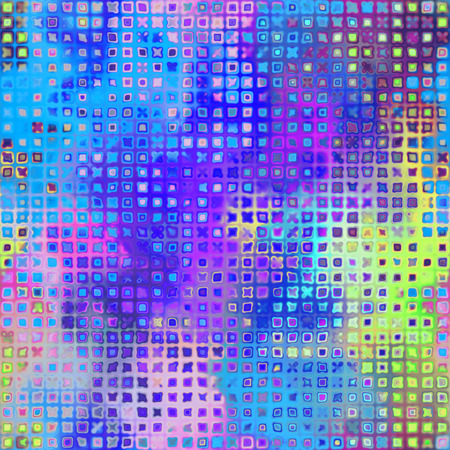 art abstract pixel geometric pattern background in pink, blue, yellow and violet colors photo