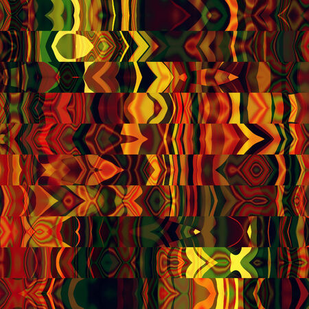 art abstract rainbow graphic background; geometric border stylized pattern with red, gold and green colors photo