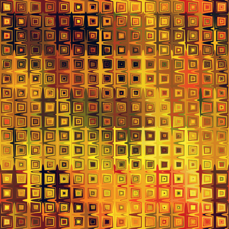 art abstract pixel geometric seamless pattern; background in gold, brown, orange and red colors photo