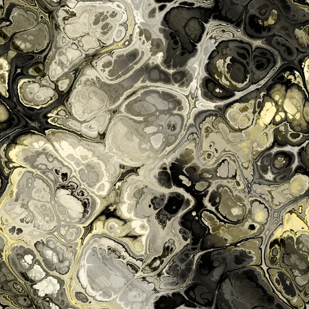 art abstract colorful fractal seamless pattern; background in grey, black and gold colors photo