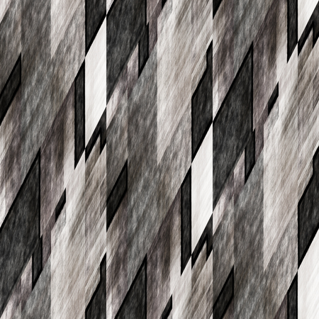 art abstract geometric diagonal seamless pattern; background in black, grey and white colors photo