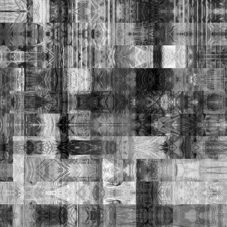 art abstract monochrome graphic background; geometric border stylized pattern in black, grey and white colors photo