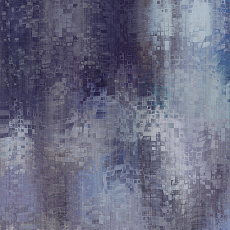 art abstract pixel geometric pattern background in blue, grey and white colors photo