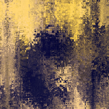 art abstract pixel geometric pattern background in gold and black colors photo