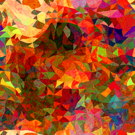 art abstract colorful chaotic waves seamless pattern; background in red, gold and green colors photo