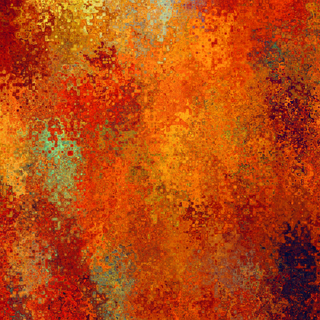 art abstract pixel geometric pattern background in red, orange, gold and green colors photo