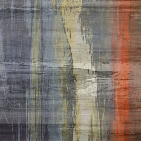 art abstract colorful silk textured blurred background in grey, beige, red and gold colors photo