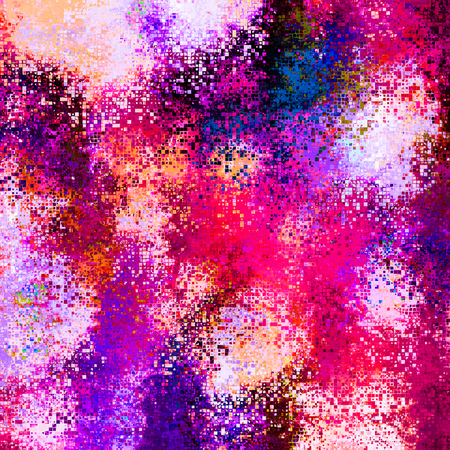 art abstract pixel geometric  pattern background in pink, violet, white and blue colors photo