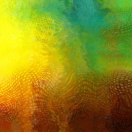 art abstract colorful chaotic waves pattern, background in yellow, brown, olive, green and beige  colors photo