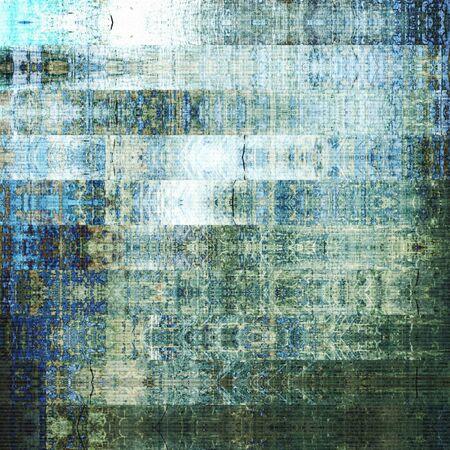 アート抽象的な幾何学的な水平方向のストライプ柄青、白と緑の色の背景