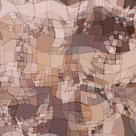 art abstract colorful chaotic waves seamless pattern, background in beige, white, grey and brown colors photo