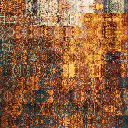 アート抽象的な幾何学的な水平方向のストライプ柄茶色、オレンジと赤の色の背景 写真素材 - 36696163