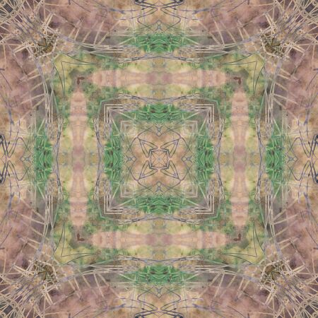 gold brown: art nouveau ornamental vintage  pattern, S.4, colorful watercolor background in pastel  lilac, grey, old gold, brown and green colors