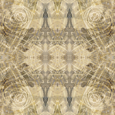 white gold: art nouveau ornamental vintage  pattern, S.2, monochrome watercolor background in pastel beige, white, gold and grey colors
