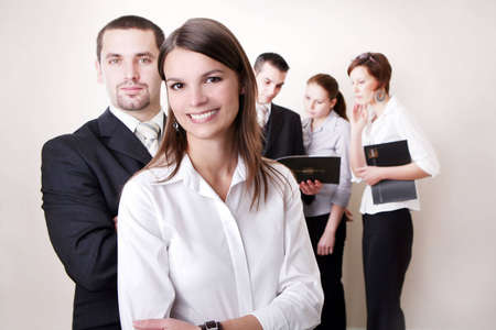 Business team or group at a meeting, 2 people in front Stock Photo - 2101879