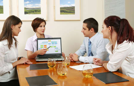 workgroup: Workgroup interacting in a natural work environment. Stock Photo