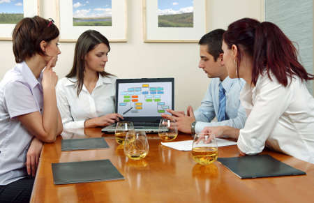Workgroup interacting in a natural work environment. Stock Photo - 2101731
